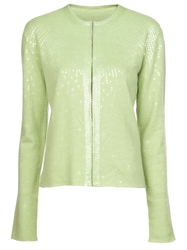 Lucien Pellat Finet Beaded Cardigan Green