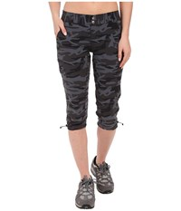 Columbia Saturday Trail Printed Knee Pants Black Camo Women's Casual Pants