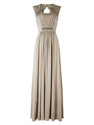 Phase Eight Anabella Lace Full Length Dress Champagne