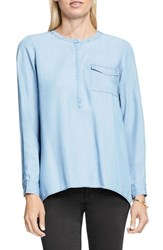Vince Camuto Women's Two By Split Back Henley Shirt