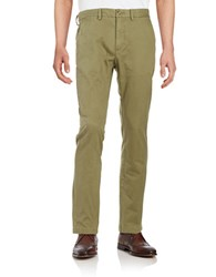 Black Brown Straight Leg Chino Pants Dusty Olive