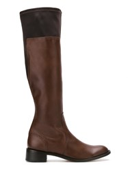 Sarah Chofakian Leather Boots Women Goat Skin 39 Brown