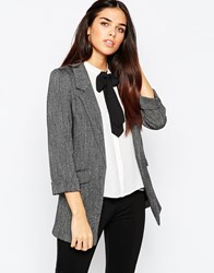 Warehouse Tweed Blazer Grey