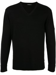 Loveless Long Sleeve Fitted Sweater Black