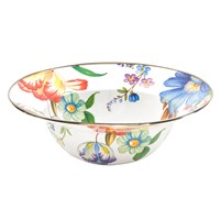 Mackenzie Childs Flower Market Enamel Serving Bowl White