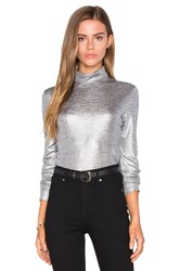 Cheap Monday Rock Top Metallic Silver