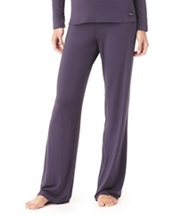Calvin Klein Essentials Satin Trim Pajama Pants Plum