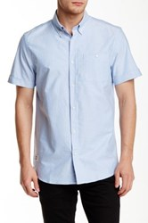 Wesc Oden Short Sleeve Relaxed Fit Shirt Blue