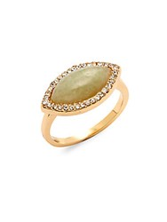 Jules Smith Designs Jade Slip On Ring Gold Jade