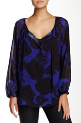 Kut From The Kloth Long Sleeve Blouse Purple