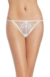 Betsey Johnson Women's Perfectly Sexy Thong Pearl