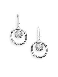 John Hardy Bamboo Lava White Topaz And Sterling Silver Drop Earrings