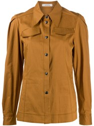 Dorothee Schumacher Long Sleeved Shirtpoint Brown