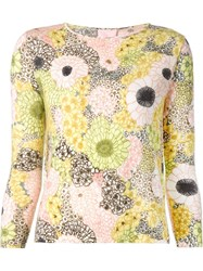 Giamba Flower Intarsia Sweater Multicolour