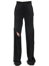 Jinnnn Flared Cut Out Washed Silk Pants