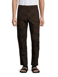 Vince Leaf Printed Chino Pants Black Brown