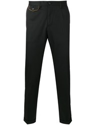 Dolce And Gabbana Contrast Pocket Chinos Black