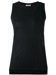 P.A.R.O.S.H. Knitted Tank Top Women Cotton Viscose Xl Black