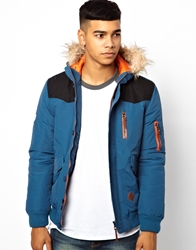 Bellfield Heavy Wadded Parka Arcticblue