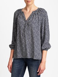 John Lewis Collection Weekend By Lavinia Sketchy Hearts Top Navy Cream