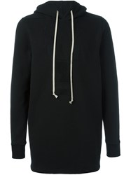 Rick Owens Drkshdw Long Length Hoodie Black