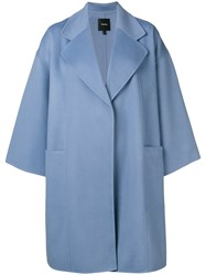 Theory Oversized Coat Blue