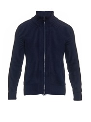 Burberry Beckers Ribbed Knit Cardigan