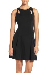 Ali And Jay Women's Cutout Ponte Fit Flare Dress