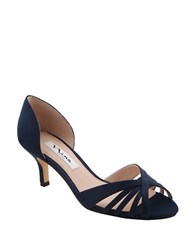 Nina Coella Slip On Pumps Navy Blue