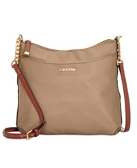 Calvin Klein Dressy Nylon Messenger Light Khaki