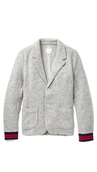 Band Of Outsiders Fleece Schoolboy Blazer