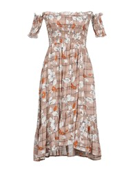 Care Of You Short Dresses Brown