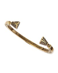 Pave Crystal Skinny Hoof Cuff Antique Brass Giles And Brother