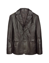 Forzieri Dark Brown Italian Leather Blazer