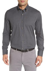 Peter Millar Men's Regular Fit Melange Herringbone Sport Shirt