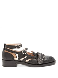 Gucci Queercore Leather Brogues Black