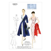 Vogue Vintage Women's Dress And Coat Sewing Pattern 8875