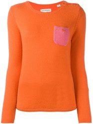 Chinti And Parker Cashmere Pocket Jumper Yellow Orange