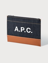 A.P.C. Axelle Clutch Blue