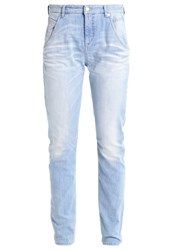 M A C Mac Laxy Relaxed Fit Jeans Mid Blue Aqua Washed Light Blue Denim