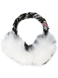 Eugenia Kim Embroidered Ear Muffs Black