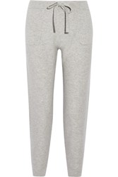 Allude Cashmere Track Pants Stone