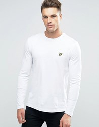 Lyle And Scott Long Sleeve Top Eagle Logo In White White