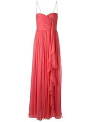 Marco Bologna Sweetheart Neck Dress Pink And Purple