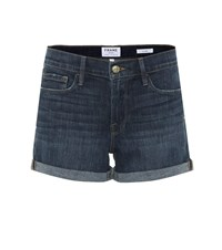 Frame Le Cutoff Denim Shorts Blue