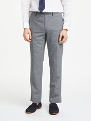 John Lewis Woven In Italy Rustic Wool Tailored Trousers Light Grey