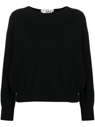 Allude Tie Back Knit Top Black