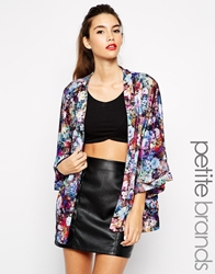 Girls On Film Petite Digital Floral Kimono Multi