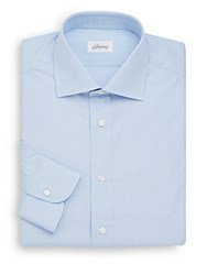 Brioni Regular Fit Cotton Dress Shirt Pastel Blue
