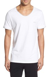 Men's Boss 'Mix And Match' V Neck T Shirt White